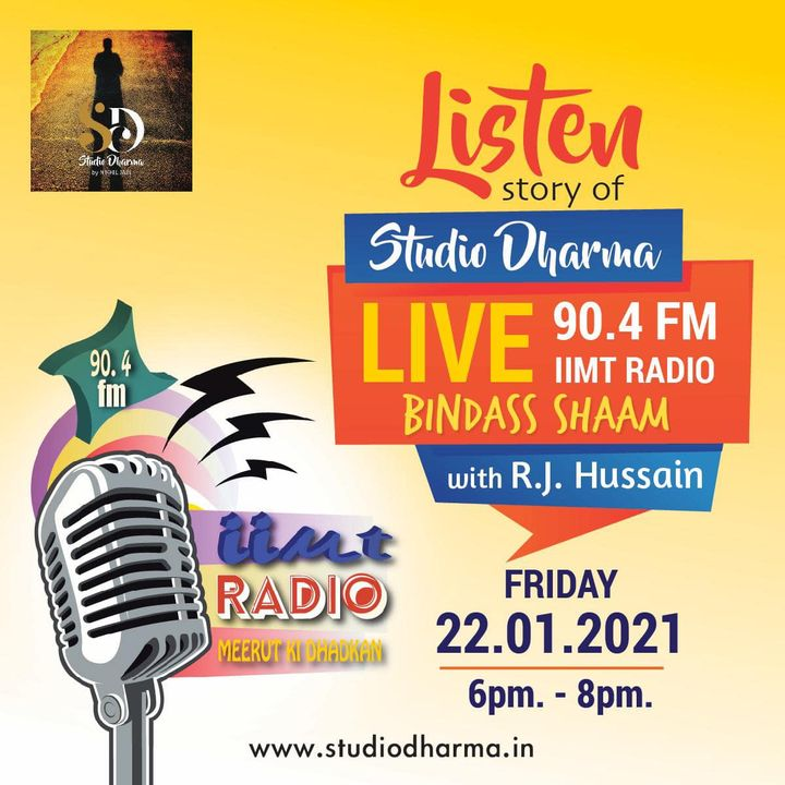 Thanks a ton, friends for your love and support studiodharma will be on Radio IIMT 90.
