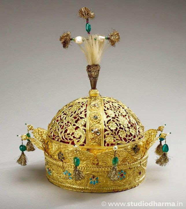 Crown of the Emperor Bahadur Shah II (the last Mughal emperor).