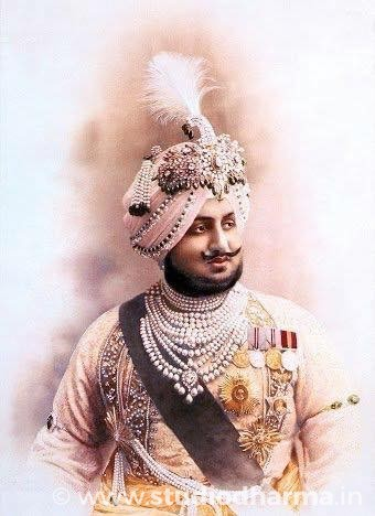Diamond-decked serpech of Maharaja Bhupinder Singh.