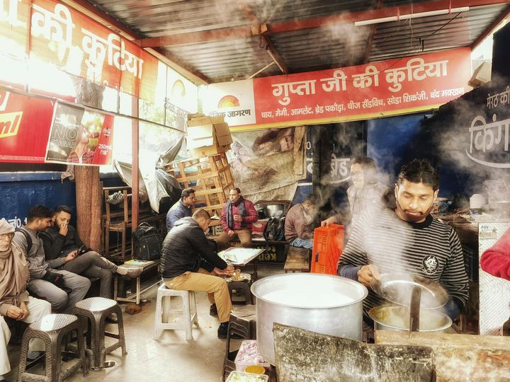 Kutia famous Tea and Maggie point in Meerut .